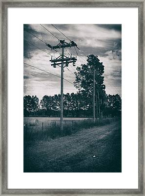 The Power Lines  Framed Print by Howard Salmon