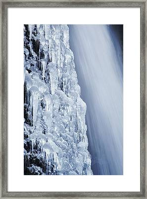 The Power Of Cold Framed Print