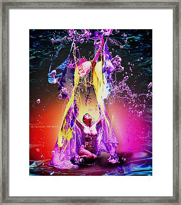The Power Of Energy Framed Print by Yvon van der Wijk