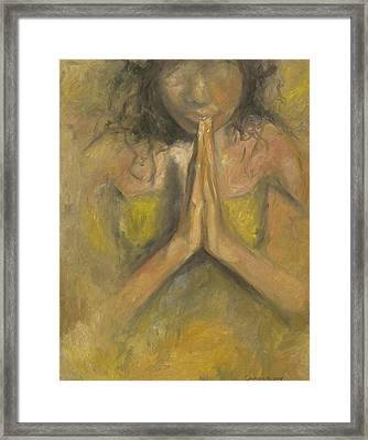 The Power Of Prayer - Blind Faith Framed Print