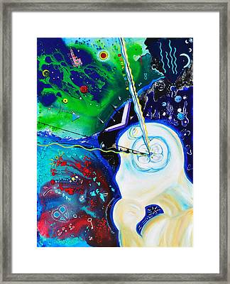 Framed Print featuring the painting The Power Of Thought by Christine Ricker Brandt