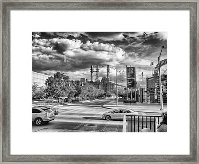 Framed Print featuring the photograph The Power Station by Howard Salmon