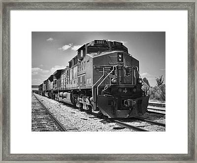 The Powerhouse Black And White Framed Print by Wendy J St Christopher