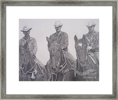 The Powers Boys Framed Print by Mary Lynne Powers