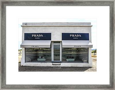 The Prada Installation In Marfa Framed Print