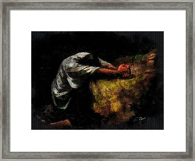 The Prayer Framed Print by Charlie Roman