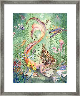 The Prayer Framed Print by Sara Burrier