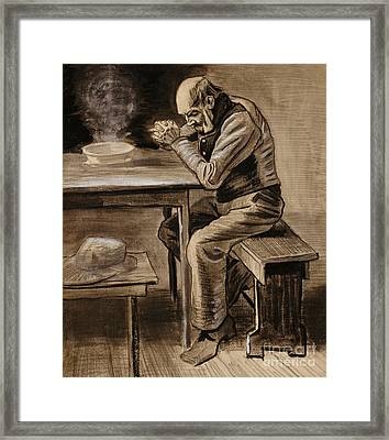 The Prayer Framed Print by Vincent Van Gogh
