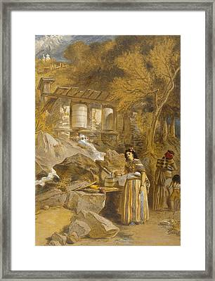 The Praying Cylinders Of Thibet Framed Print by William 'Crimea' Simpson