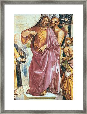 The Preaching Of The Antichrist Framed Print by Luca Signorelli