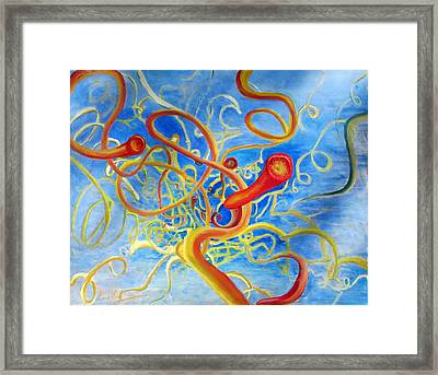 The Predators From The Cosmos  Framed Print by Errol  Jameson