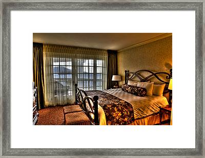 The Premier Balcony Suite - Sagamore Resort Framed Print by David Patterson