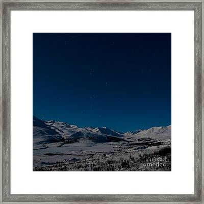 The Presence Of Absolute Silence Framed Print