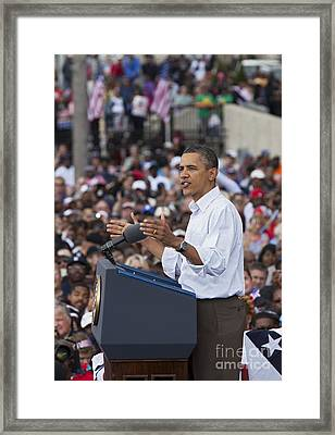 The President Framed Print by Jim West
