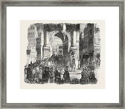 The Presidential Election In Paris Application For Voting Framed Print