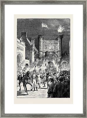 The Preston Guild Festival The Torchlight Procession Framed Print by English School