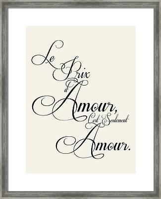 The Price Of Love Framed Print by Jaime Friedman