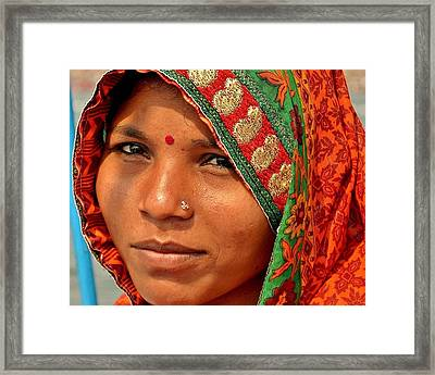The Pride Of Indian Womenhood Framed Print