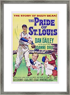 The Pride Of St.louis, Dan Dailey Framed Print