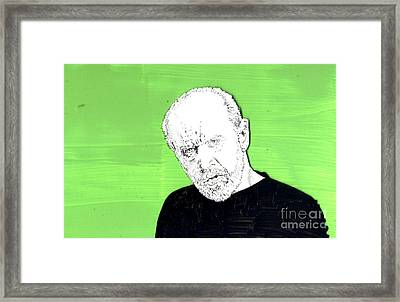 Framed Print featuring the mixed media the Priest on Green by Jason Tricktop Matthews