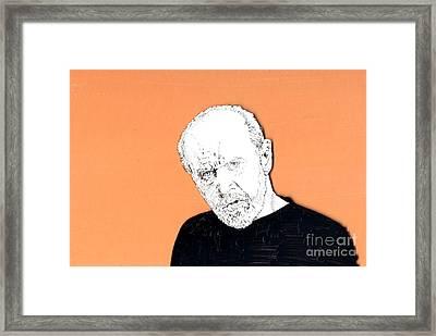 The Priest On Orange Framed Print