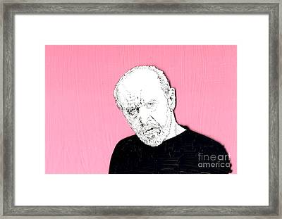 Framed Print featuring the mixed media The Priest On Pink by Jason Tricktop Matthews