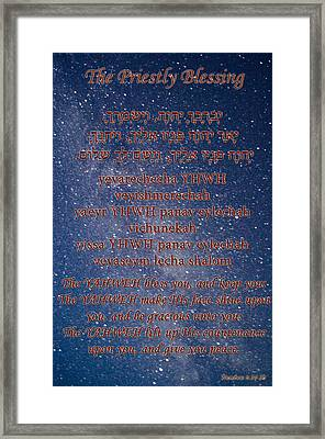 The Priestly Blessing Framed Print by Tikvah's Hope