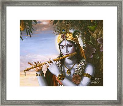 The Primordial Flute Player Framed Print