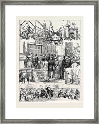 The Prince And Princess Of Wales At Bradford 1 Framed Print by English School