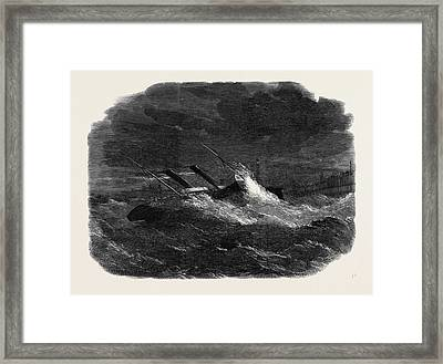 The Prince Frederick William Drifting Ashore In Calais Framed Print