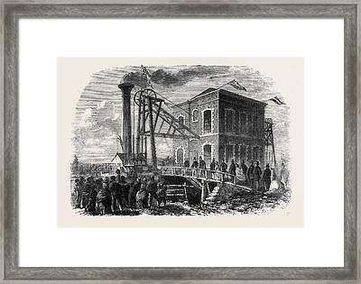 The Prince Of Wales At Shireoaks Coalmine Notts Framed Print