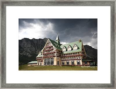 The Prince Of Wales Hotel Waterton Lakes Np  Framed Print by Teresa Zieba