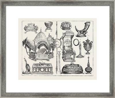 The Prince Of Wales Indian Jewellery At South Kensington Framed Print by English School