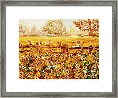 The Prince Of Wales Wild Flower Fields Framed Print by Helena Bebirian