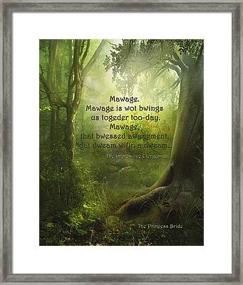 The Princess Bride - Mawage Framed Print