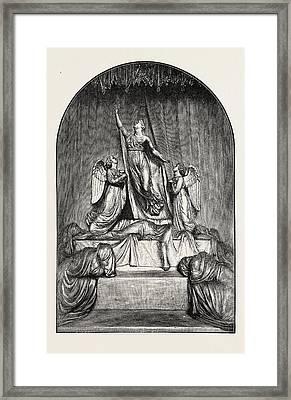 The Princess Charlotte Monument. The Princess Charlotte Framed Print by Welsh School