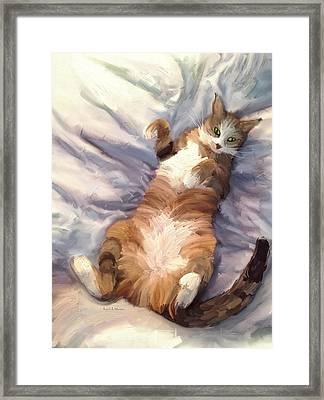 The Princess - The Cat Framed Print by Angela A Stanton