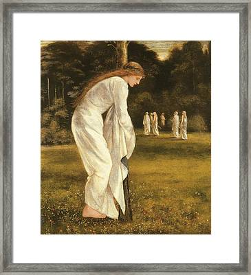 The Princess Tied To A Tree Framed Print by Sir Edward Coley Burne-Jones
