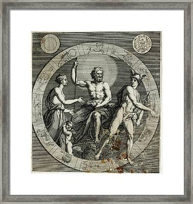The Principal Classical Gods Of Olympus Framed Print