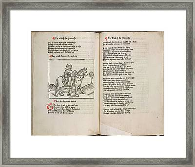 The Prioress Framed Print by British Library