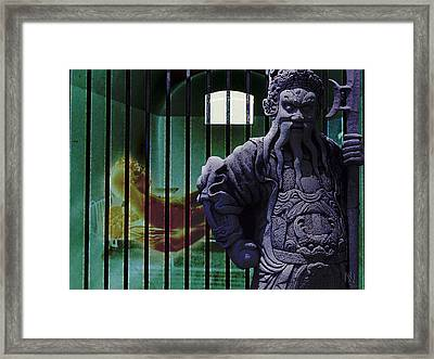 The Prisoner And His Guardian Framed Print by Nafets Nuarb