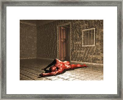 Framed Print featuring the digital art The Prisoner by John Alexander