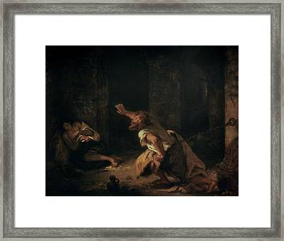 The Prisoner Of Chillon Framed Print by Ferdinand Victor Eugene Delacroix
