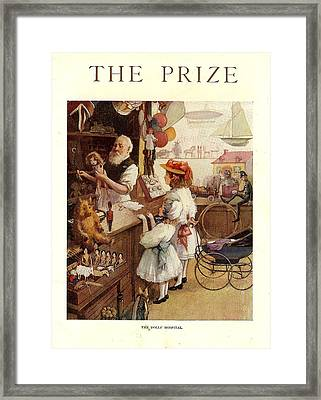 The Prize Magazine Cover Framed Print by The Advertising Archives