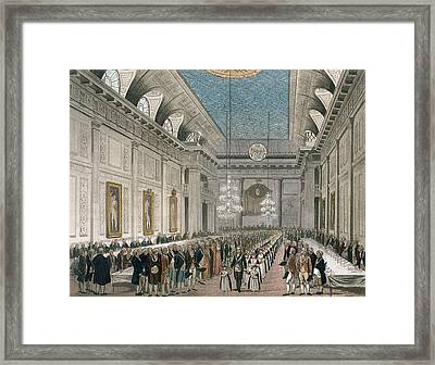 The Procession At Freemasons Hall Framed Print
