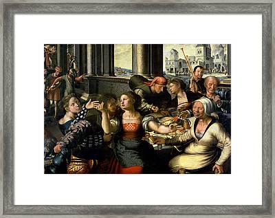 The Prodigal Son, 1536 Oil On Panel Framed Print