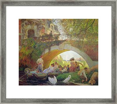 The Prodigal Son Oil On Canvas Framed Print by Gaston de La Touche