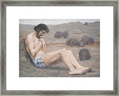 The Prodigal Son Framed Print by Pierre Puvis de Chavannes