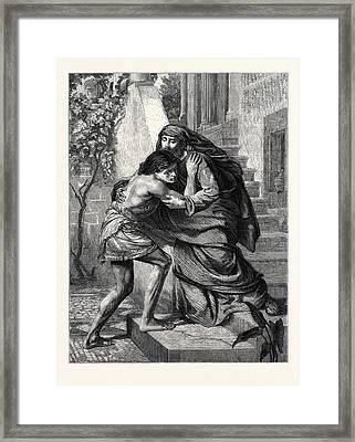 The Prodigals Return Framed Print by Poynter, Sir Edward John (1836-1919), English