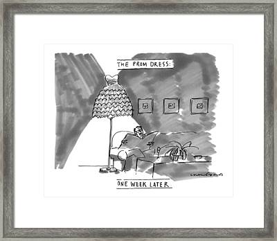 'the Prom Dress: One Week Later' Framed Print by Michael Crawford